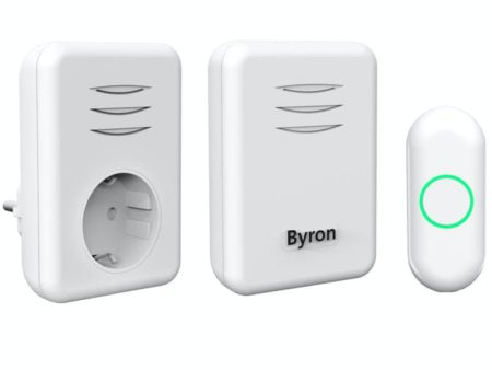 BYRON Trådlös dörrklocka Plug-in 230V