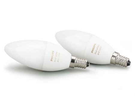 Glödlampa Philips Hue White and Color E14 2-pack