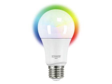 Glödlampa med flera färger och temperatur, dimbar (E27)
