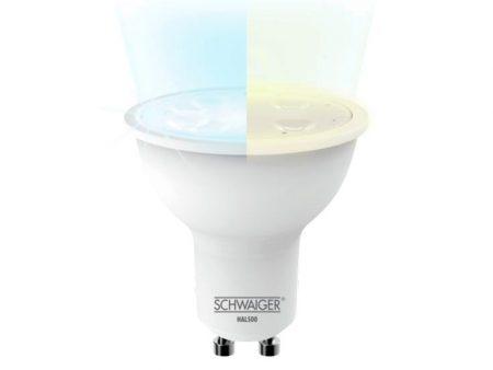 Glödlampa för spots med ändringsbar färgtemperatur, dimbar (GU10)