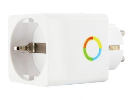 Smart väggkontakt som visar strömförbrukningen
